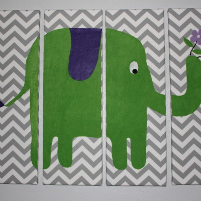 The perfect nursery artwork: Felt + fabric