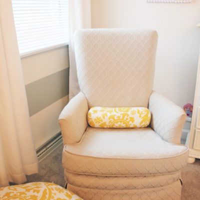Choosing & reupholstering a nursery chair