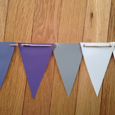 Simple party decor from even simpler materials