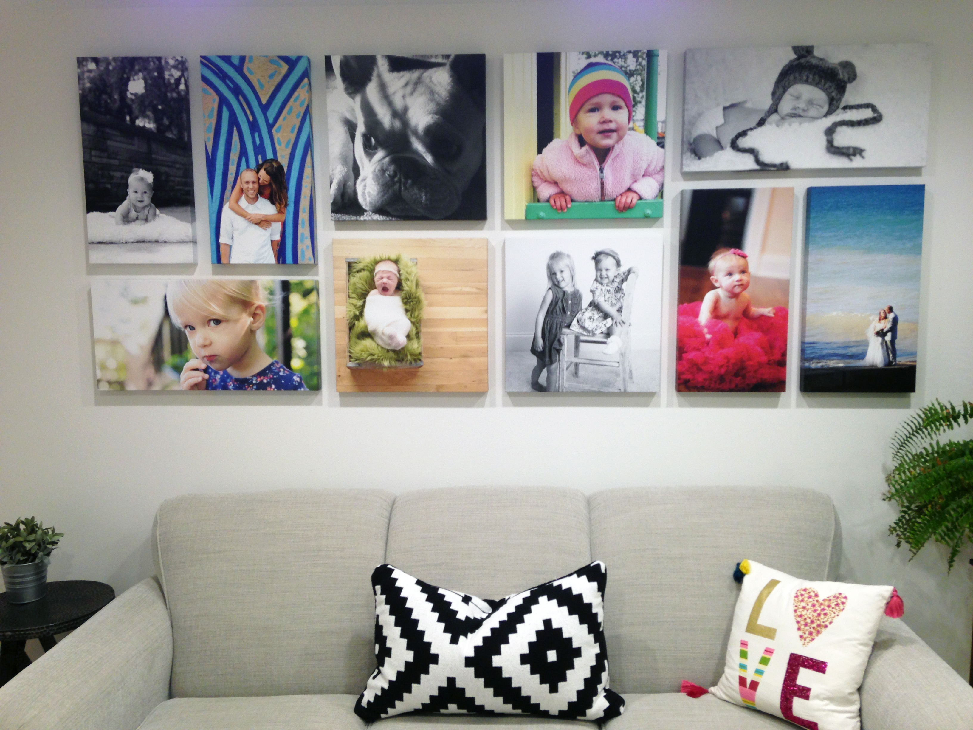 How to plan out & create a gallery wall