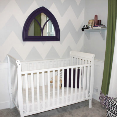 Painting chevron walls: Nursery #2