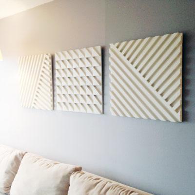 Using plywood & scrap wood to make a geometric art piece