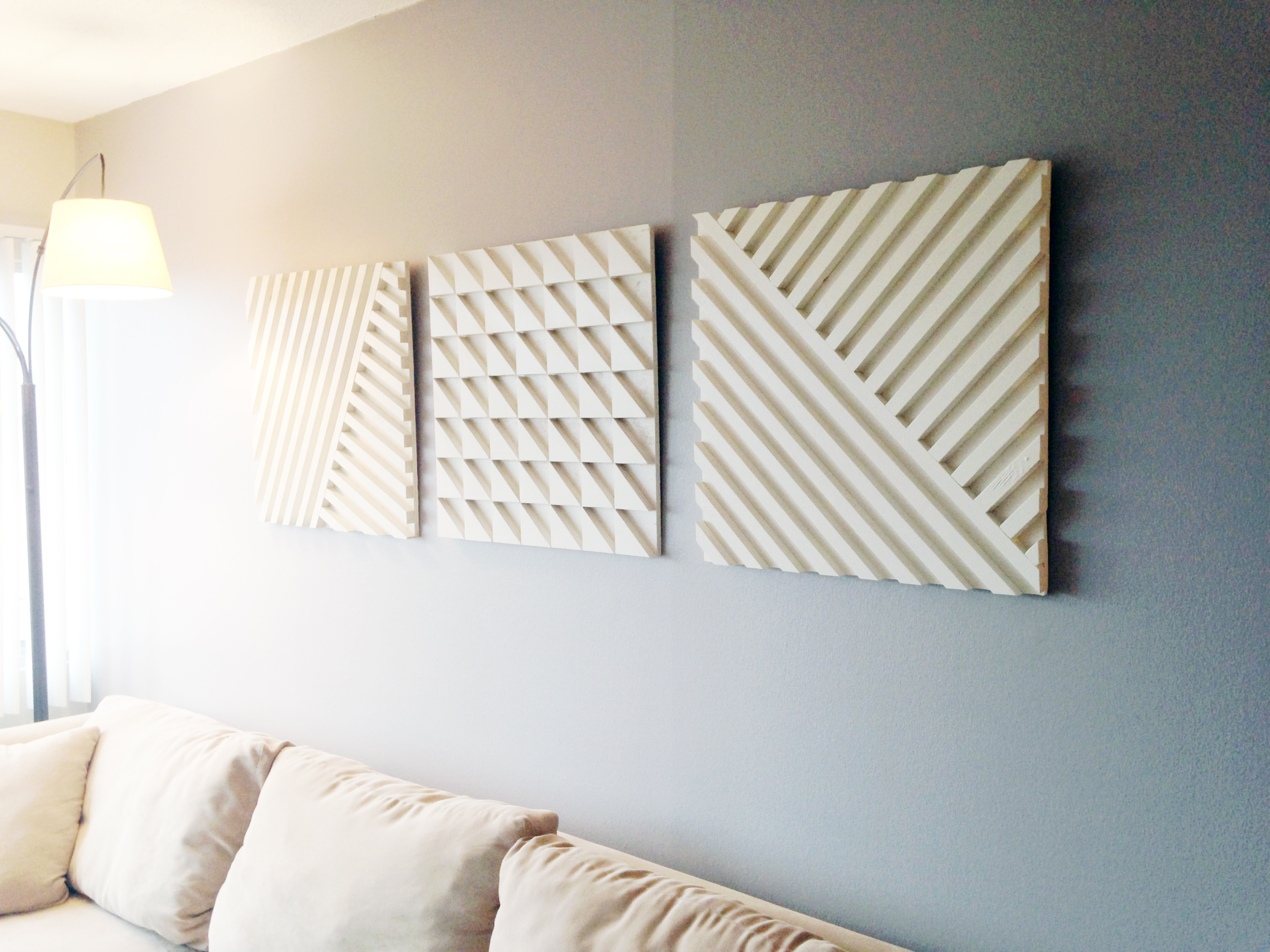 Using plywood & scrap wood to make a geometric art piece
