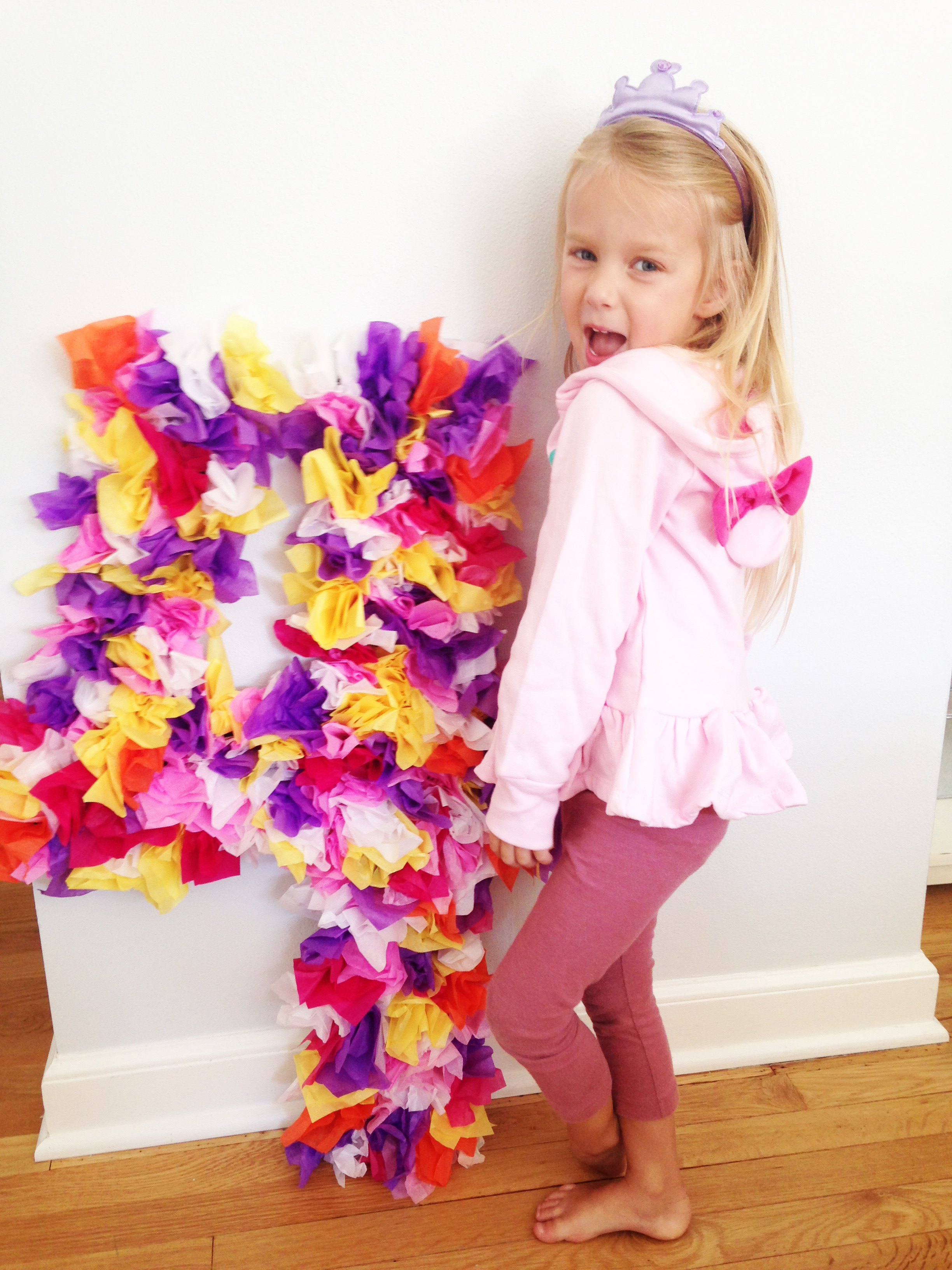 Creating a DIY tissue paper birthday number