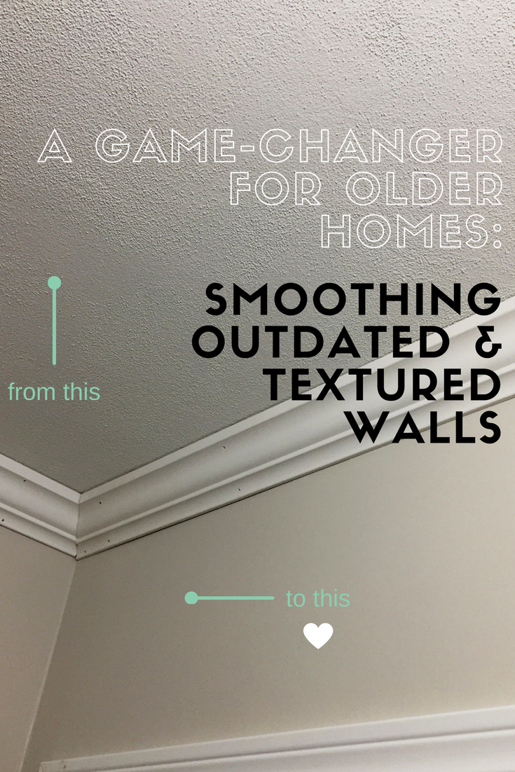 Favorite Smoothing outdated textured walls - a little kooky TK58