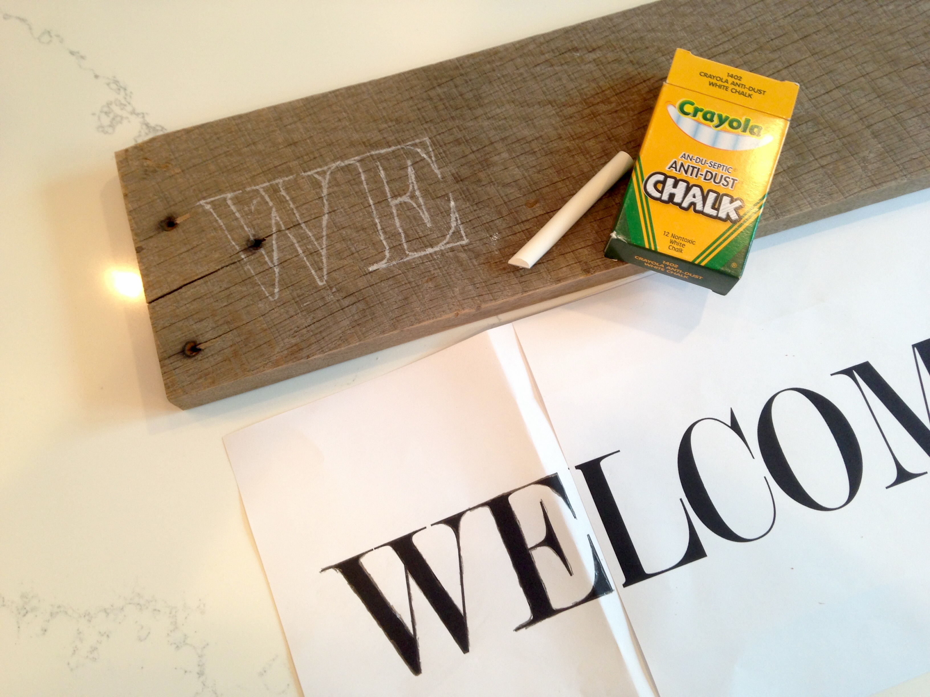 How to create a pallet sign without a stencil