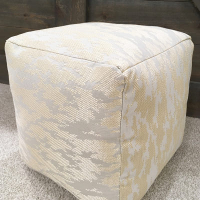 DIY West Elm-inspired floor pouf