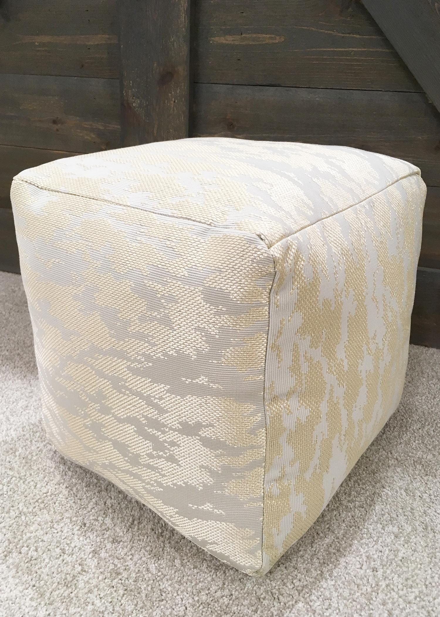 DIY West Elm-inspired floor pouf